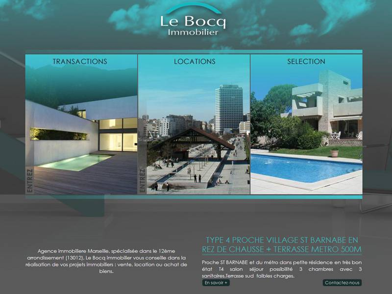 Agence immobili re marseille 13012 le bocq immobilier for Agence immobiliere 13012